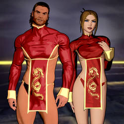 Fear Effect Inferno - Glas and Rain (harem) by LitoPerezito