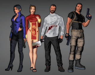 The Fear Effect Inferno Team by LitoPerezito