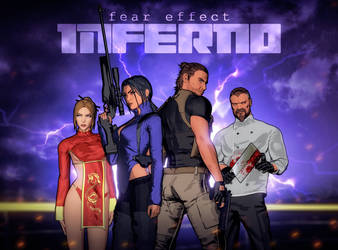 The main cast of Fear Effect Inferno by LitoPerezito
