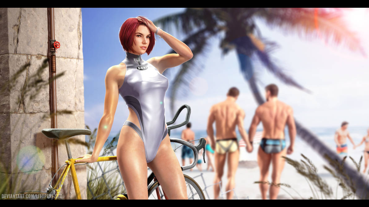 Regina's Waiting on the Beach by LitoPerezito