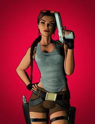 Simple Lara Croft Render by LitoPerezito