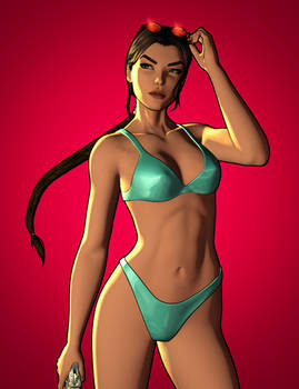 Simple Lara Croft Render 4