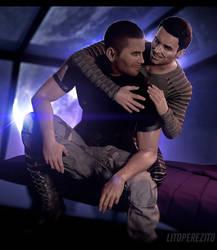 Mass Effect - Kaidan and Shepard by LitoPerezito