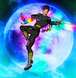 Rainbow Spidey Render 2