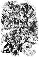 Avengers BW by johjames