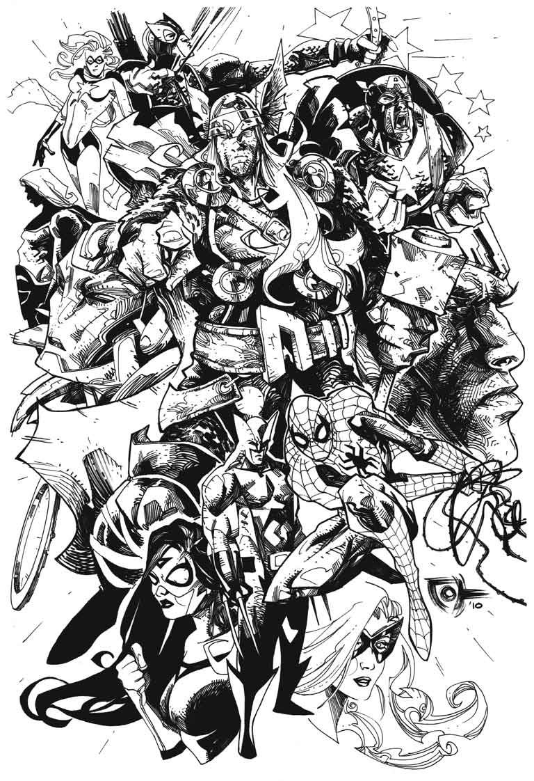 Avengers BW by johjames