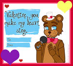 FNAF V-Day Card FREDDY