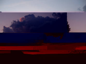 glitch evening cloud