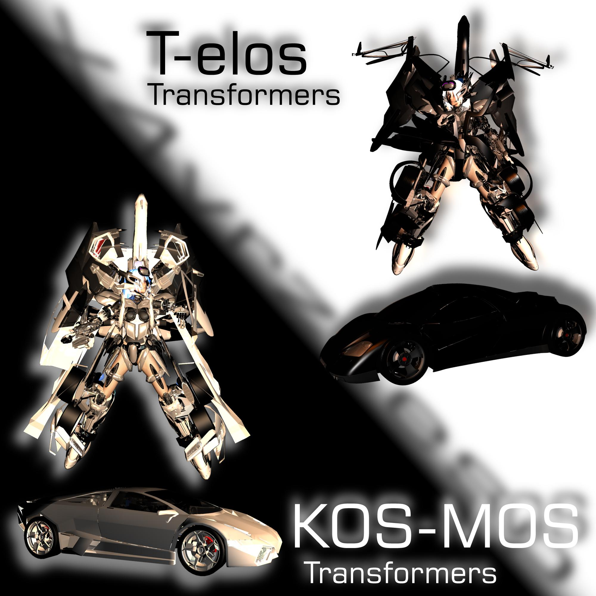 KOS-MOS Tr VS T-elos Tr by JPL-Animation