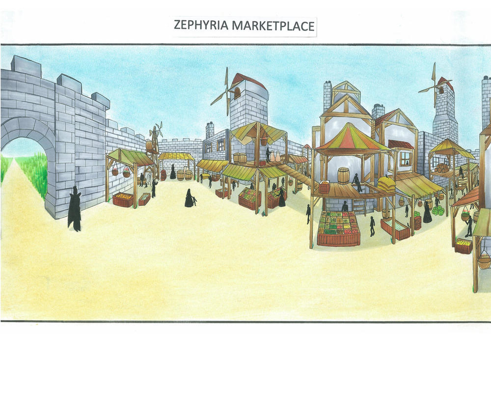 Zephyria Marketplace 1 by JPL-Animation