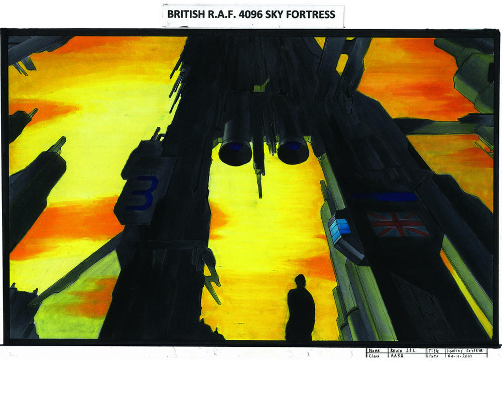 British R.A.F. Sky Fortress by JPL-Animation