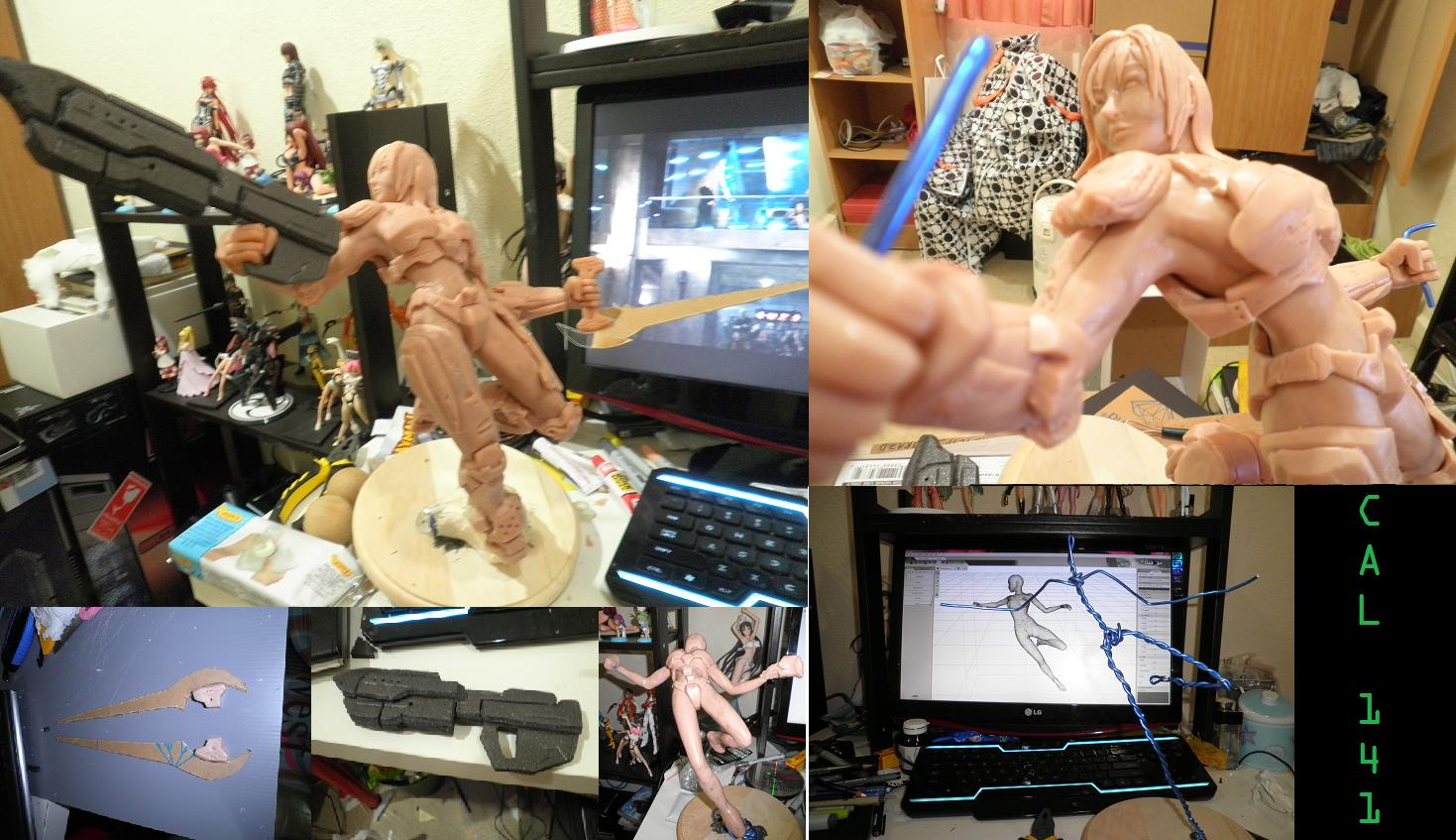 Cal 141 - Clay Sculpture WIP by JPL-Animation