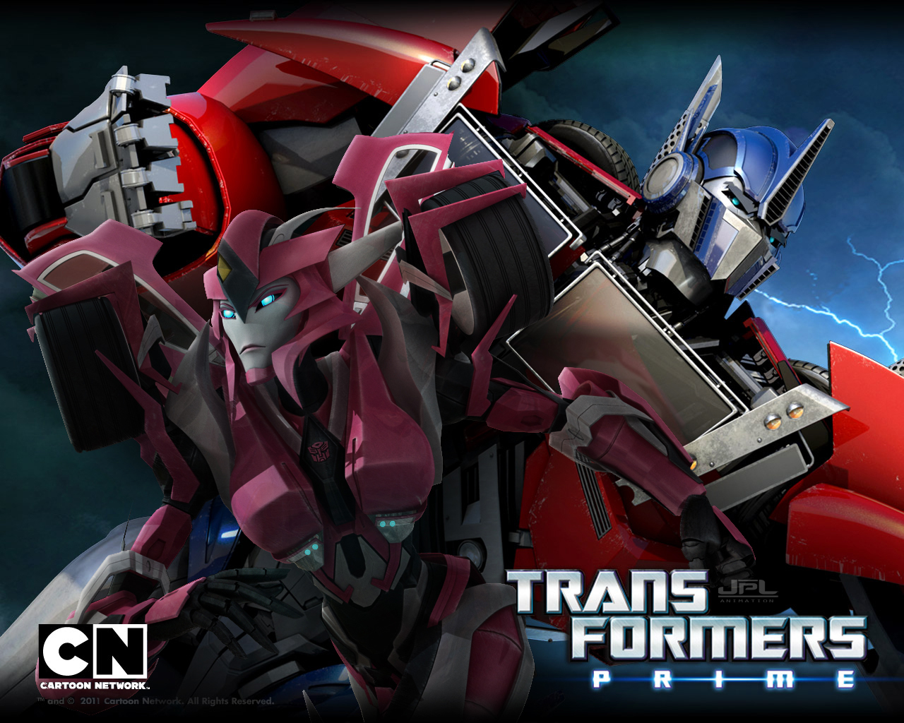 TFP Optimus and Elita by JPL-Animation