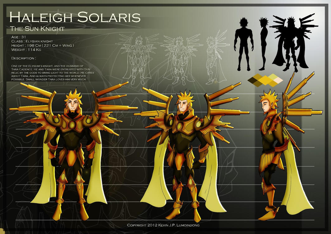 Haleigh Solaris Character Sheet ( The Sun Knight ) by JPL-Animation