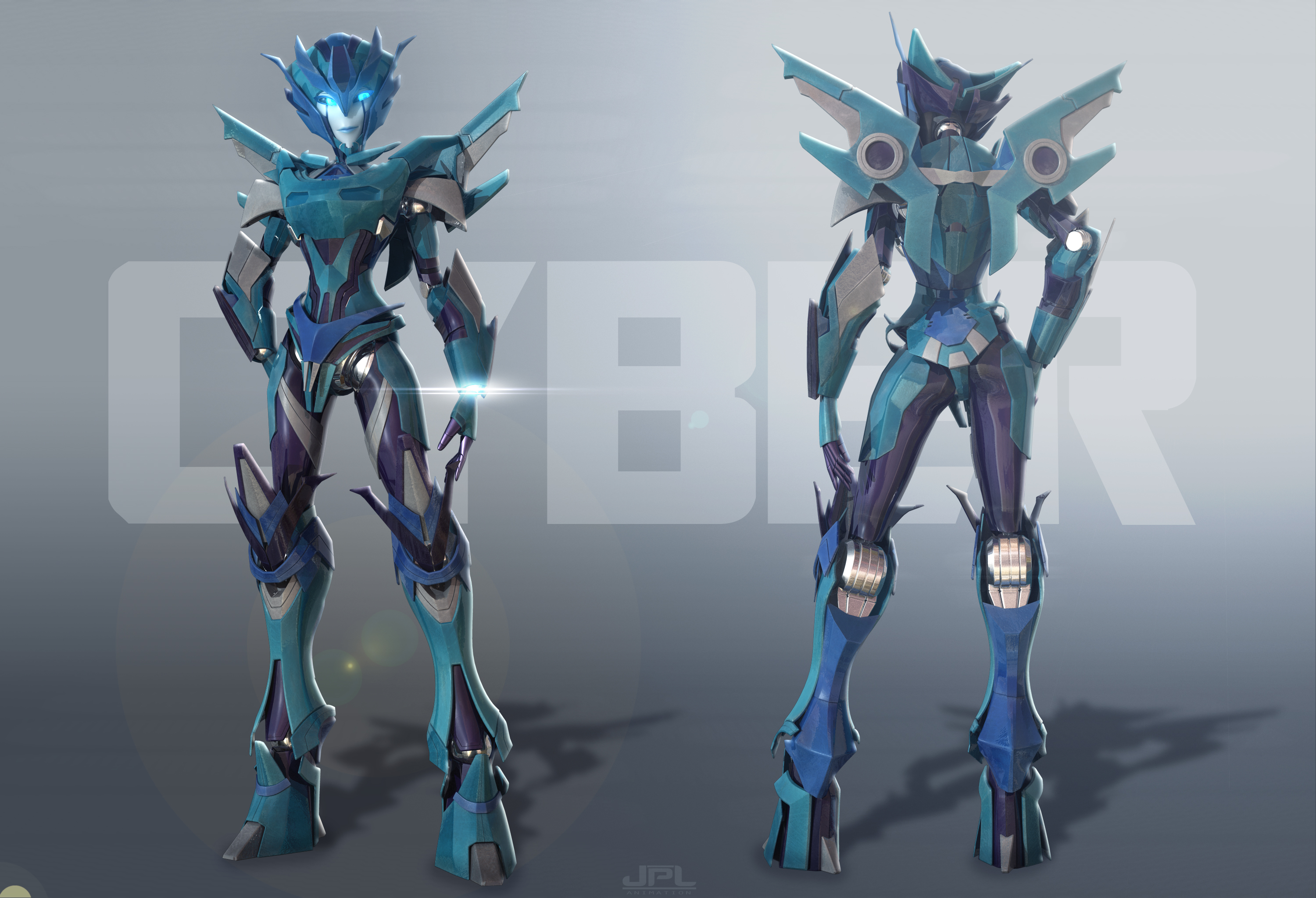 Cyber ( COMMISSION ) by JPL-Animation