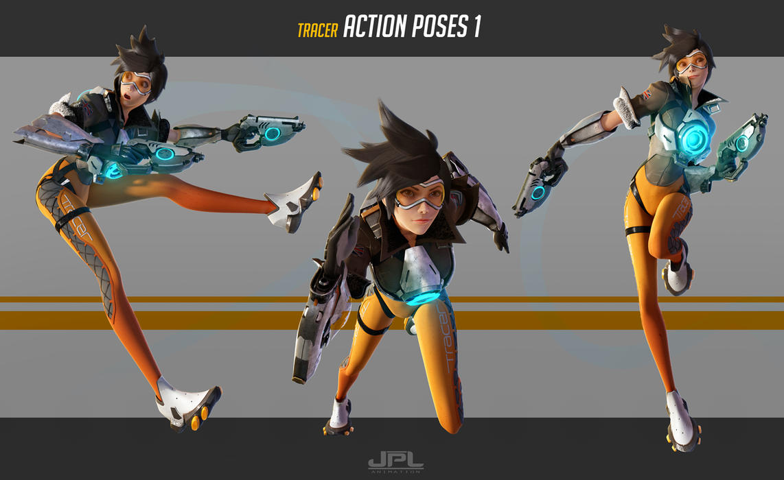 OVERWATCH Tracer Action Poses 1 by JPL-Animation