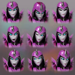 Laurelin Expression Sheet ( COMMISSION )