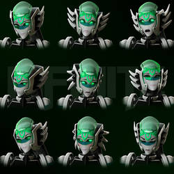 Infinite Facial Expression ( COMMISSION ) by JPL-Animation