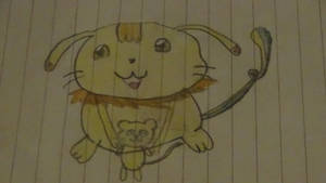 rubimon (rinimon) and her stuffed mouse *old*