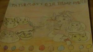 my digimon comic 'tatsumon's birthday party' cover