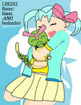 heart and her butterfree, flutter as a caterpie
