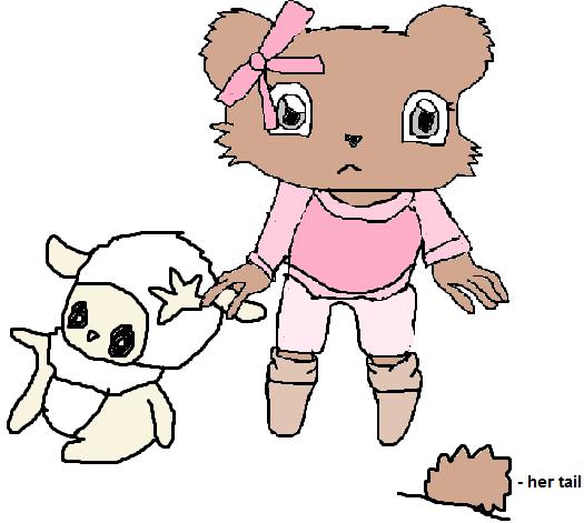my sonic oc - Taffy the bear