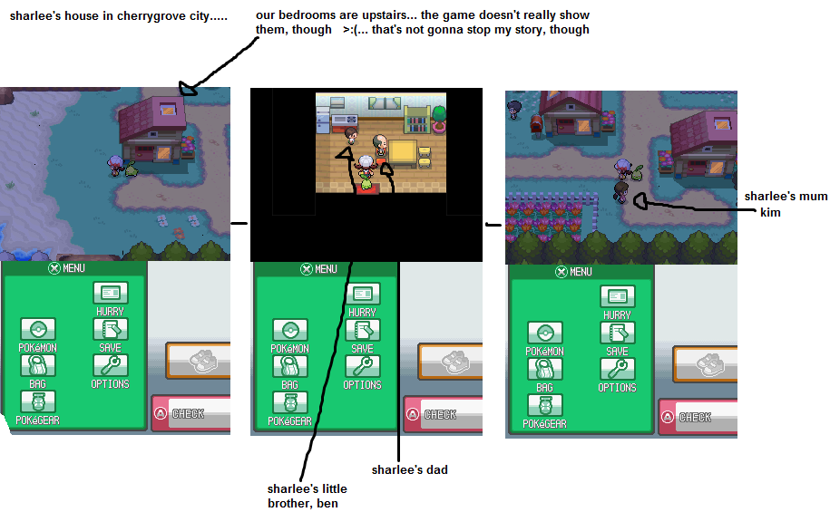 Sharlee's Home In Cherrygrove City (heartgold)