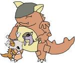 garura adopts little cubi