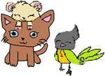 animal crossing NH - honoka, mikan and pippi