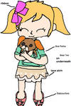 NH - Penny, With Her Dog Plushie, Puppers