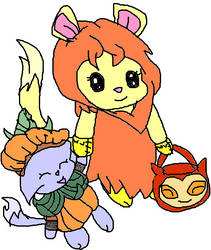 neopets - evelyn in her noil halloween costume