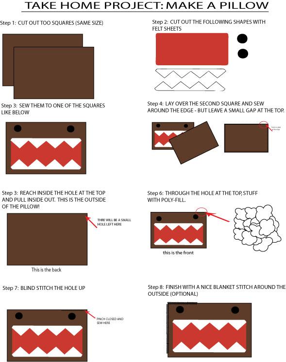 Pillow Domo-Kun Guide by Mokulen22