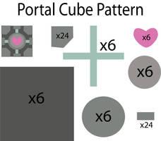 Portal cube Pattern by Mokulen22