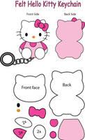 Hello Kitty felt Keychain