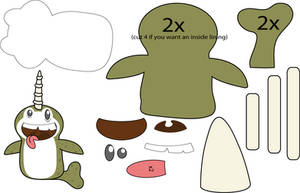 Narwhal Puppet pattern by Mokulen22