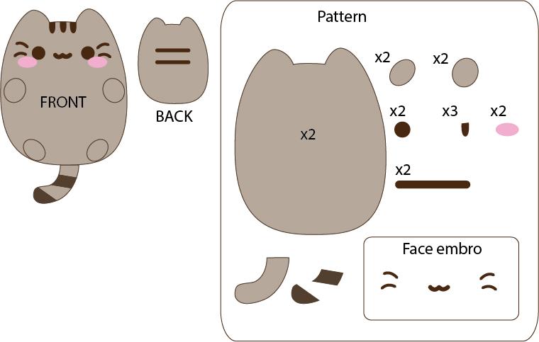 pusheen cat from facebook by mokulen22 on deviantart