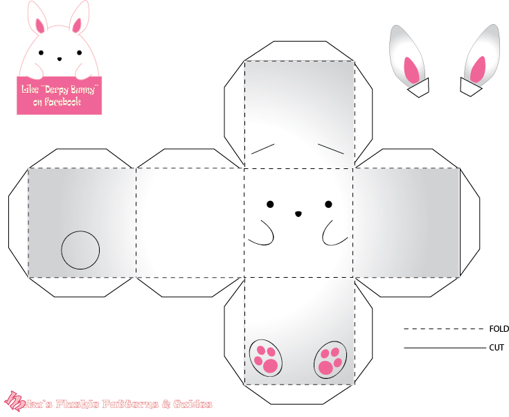 Derpy Bunny Papercraft by Mokulen22