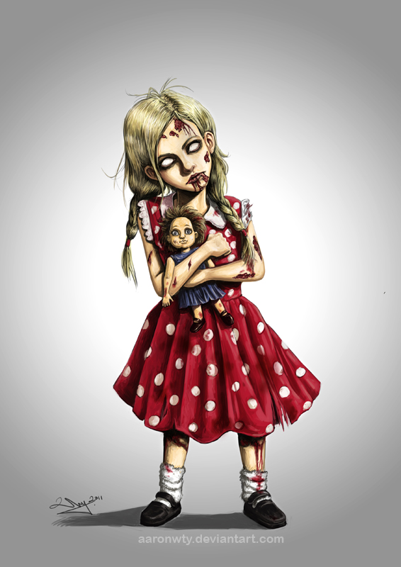 Zombie Little Girl Tattoo Zombie girl by aaronwt...