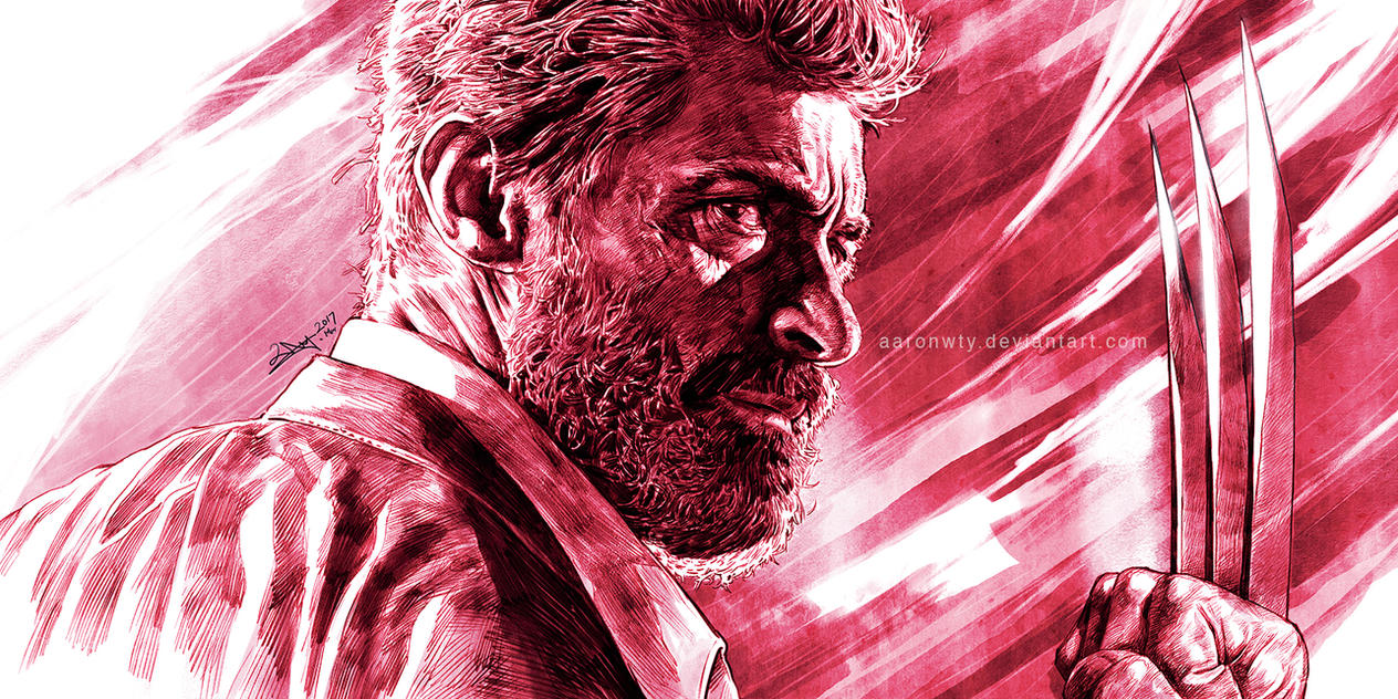 Old Logan - tribute to Hugh Jackman (in colour) by aaronwty