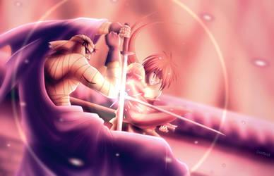 Amakakeru Ryu No Hirameki - Rurouni Kenshin by Chamailo