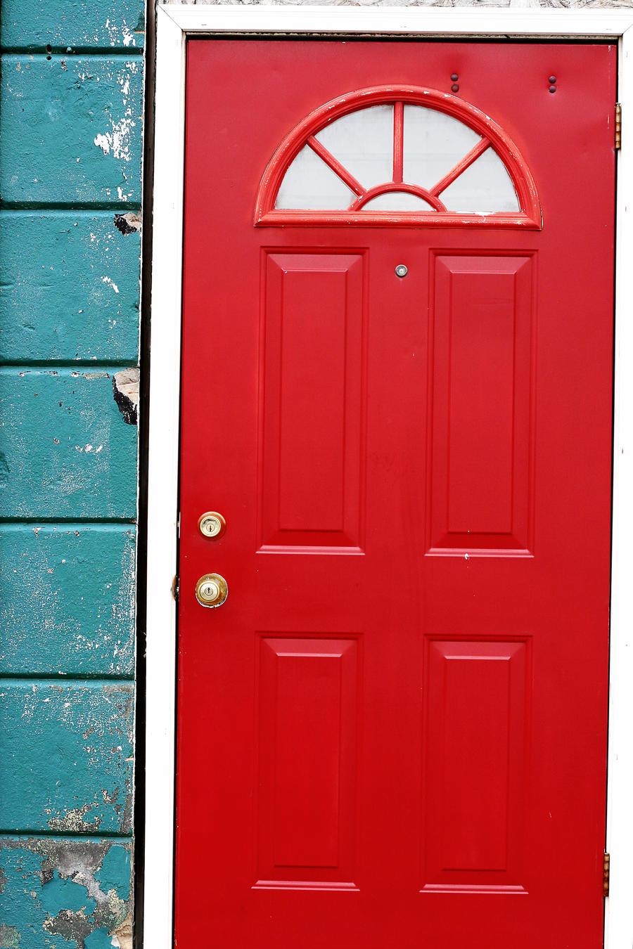 Painting An Exterior Door Red