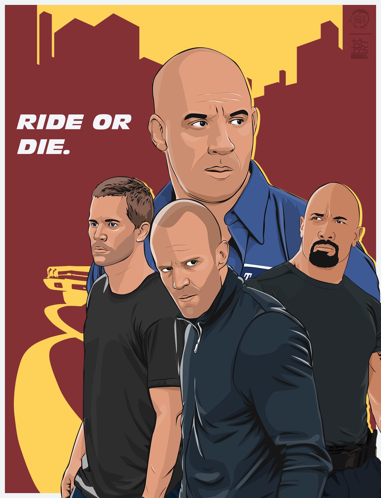... Fast and Furious 7 Poster by FurkanCbc