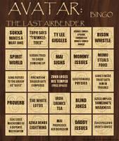 Avatar Bingo Card 1 of 3 by thalassashell