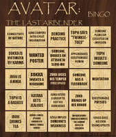 Avatar Bingo Card 2 of 3 by thalassashell