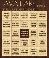 Avatar Bingo Card 3 of 3 by thalassashell
