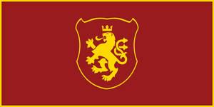 Macedonia - Golden Lion Flag v.3 by Calkino