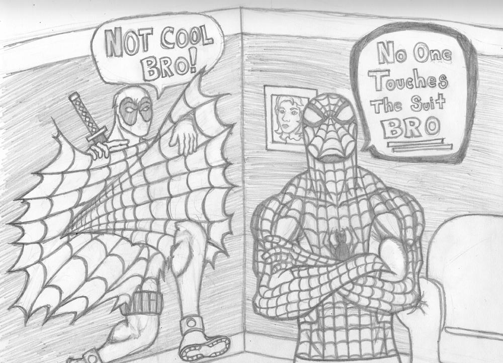 Spider Man Deadpool Not Cool Bro By Bluegun45 ...