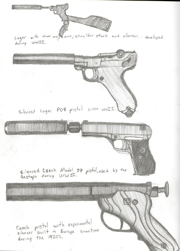 Assassin\'s Silenced Guns by Bluegun45 on DeviantArt