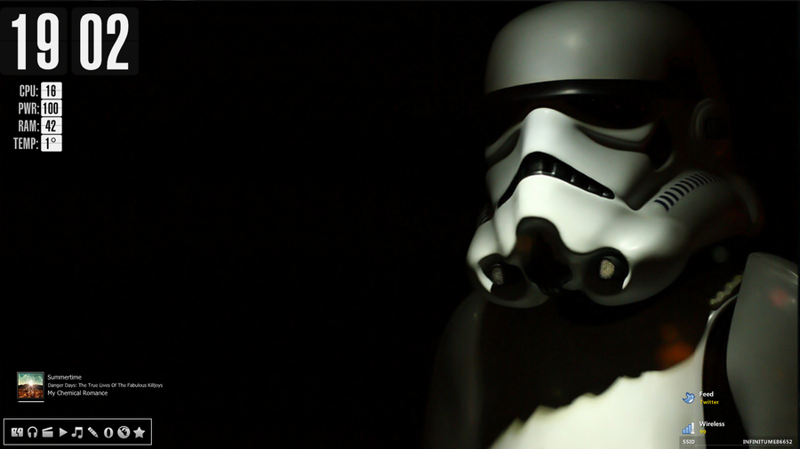 Stormtrooper Windows desktop by xdves