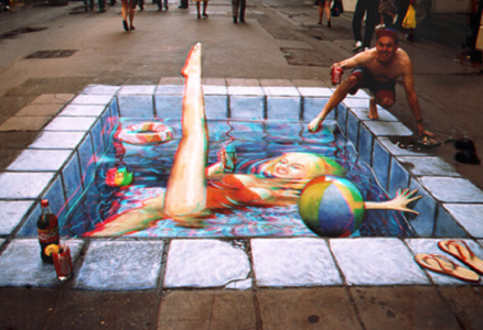 Piscine2 By  Julian Beever by DobroMG